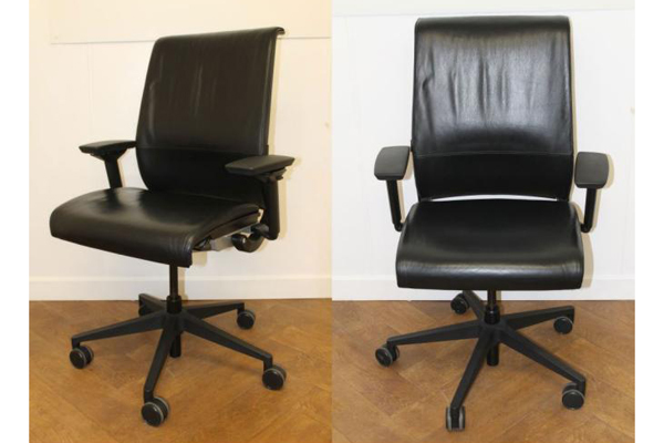 Used Steelcase Think Black Leather Swivel Chair New and  Used Office Furniture Wiltshire