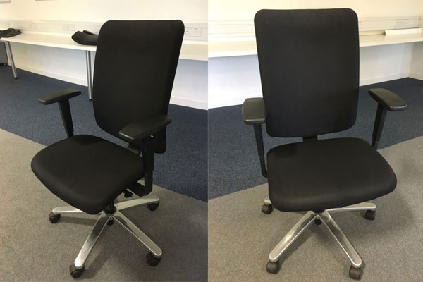 Used Black Cloth Konig & Neurath 'Jet' Swivel Chairs New and  Used Office Furniture Wiltshire