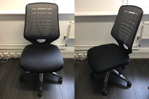 Used Black Cloth Mesh Back Swivel/Operator Chair New and  Used Office Furniture Wiltshire