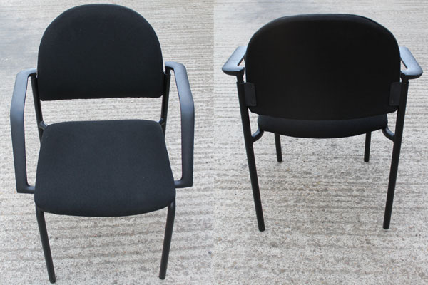 Used Black Cloth Stacking Meeting Chairs New and  Used Office Furniture Wiltshire
