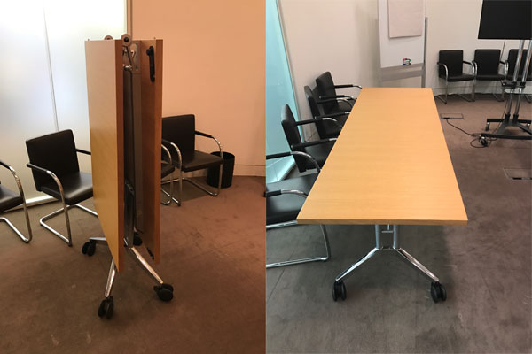 Wilkhahn Confair folding table New and  Used Office Furniture Wiltshire