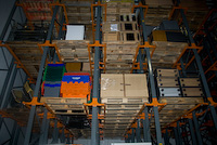 Office Furniture stored in pallet racks